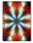 Starburst Galaxy M82 V Spiral Notebook