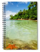Starfish And Clear Water Spiral Notebook