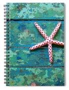 Seashore Peeling Paint - Starfish And Turquoise Spiral Notebook
