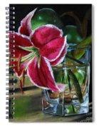 Stargazer Lily Spiral Notebook