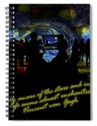 Staring At The Starry Night In The Moma Spiral Notebook