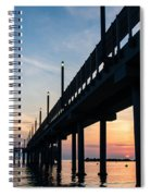 Staring At The Sun - Sunrise On The Beach Spiral Notebook