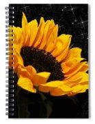 Starlight Sunflower Spiral Notebook