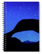 Starry Arch At Mobius Arch, Alabama Spiral Notebook