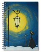Starry Cat Night Spiral Notebook