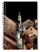Starry Night Above The Rooftops Of Korcula Spiral Notebook