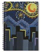 Starry Night Cityscape Spiral Notebook