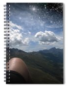 Stars And Planets In A Valley Spiral Notebook