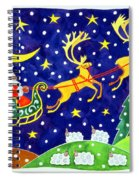 Stars And Snowfall Spiral Notebook