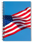 Stars And Stripes Waving Spiral Notebook