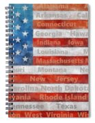 Stars And Stripes With States Spiral Notebook