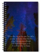 Stars Light Star Bright Fine Art Photography Prints And Inspirational Note Cards Spiral Notebook
