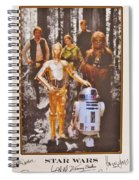 Stars Wars Autographed Movie Poster Spiral Notebook