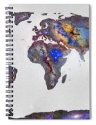 Stars World Map Spiral Notebook