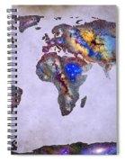 Stars World Map Space Spiral Notebook