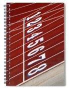 Track Starting Line Spiral Notebook