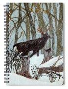 Startled Buck - White Tail Deer Spiral Notebook