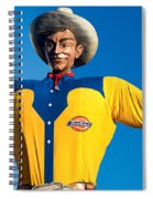 State Fair Of Texas Big Tex Yellow Spiral Notebook