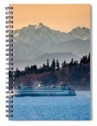 State Ferry And The Olympics Spiral Notebook