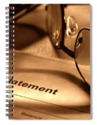 Statement With Glasses Spiral Notebook