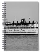 Staten Island Ferry In Black And White Spiral Notebook