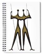 statuary - landmark of Brasilia city Spiral Notebook