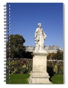 Statue At The Jardin Des Tuileries In Paris France Spiral Notebook