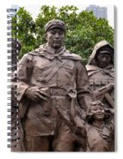 Statue Depicting Glory Of Chinese Communist Party Shanghai China Spiral Notebook