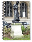 Statue In A Paris Park Spiral Notebook