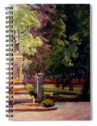 Statue In  Landscape Spiral Notebook