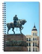 Statue In Montevideo Uruguay Spiral Notebook