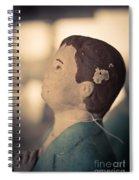 Statue Of A Boy Praying Spiral Notebook