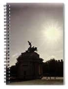 Statue Of Angel Of Peace Atop The Wellington Arch Spiral Notebook