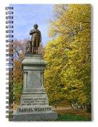 Statue Of Daniel Webster - Central Park Spiral Notebook