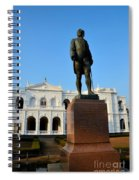 Statue Of Gregory Outside National Museum Colombo Sri Lanka Spiral Notebook