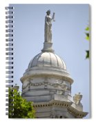 Statue Of Justice On Top Of New York City Hall Spiral Notebook