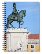 Statue Of King Jose I In Lisbon Spiral Notebook