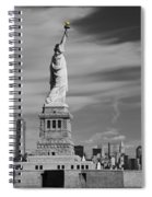 Statue Of Liberty And The Freedom Tower Spiral Notebook