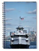 Statue Of Liberty Ferry Spiral Notebook