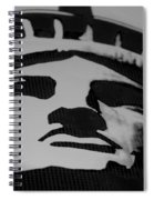 Statue Of Liberty In Black And White Spiral Notebook