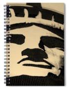 Statue Of Liberty In Dark Sepia Spiral Notebook