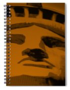 Statue Of Liberty In Orange Spiral Notebook