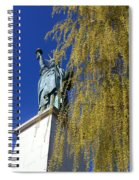 statue of liberty in Paris Spiral Notebook