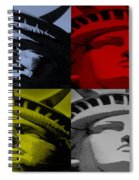 Statue Of Liberty In Quad Colors Spiral Notebook
