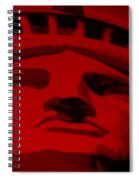 Statue Of Liberty In Red Spiral Notebook
