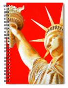 S T A T U E . O F . L I B E R T Y .  In Red Spiral Notebook