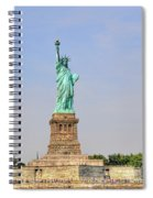 Statue Of Liberty Macro View Spiral Notebook