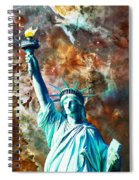 Statue Of Liberty - She Stands Spiral Notebook