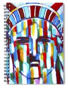 Statue Of Liberty With Colors Spiral Notebook