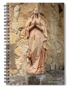 Statue Of Mary In Mission Garden Spiral Notebook